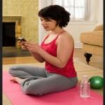 yoga y celular, facebook, twitter, nuevas tecnologías