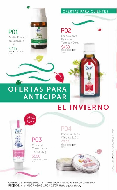 Promos mayo - productos Just Caballito